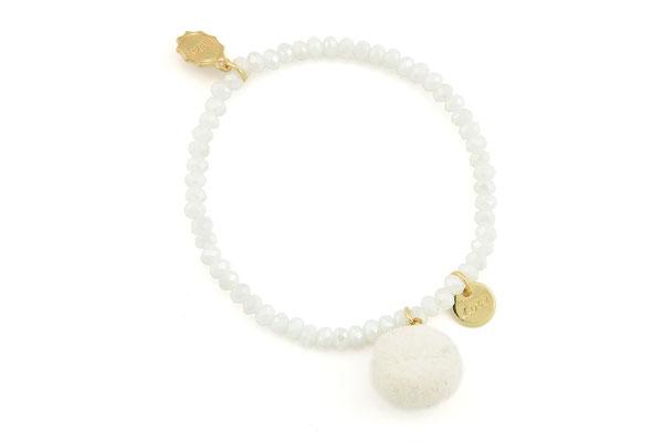 """Armband """"Single Pom Pom"""", white, 14€"""