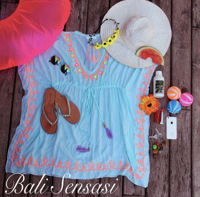 Dress Ethnique Square aqua 75€ in size XS/S/M