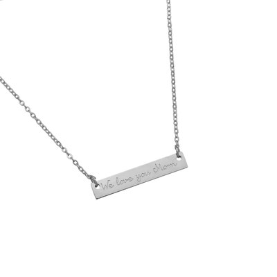 "Kette ""We love you mom"" silber, 19€"
