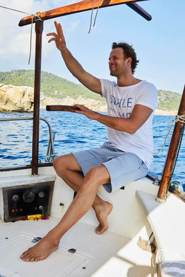 "Isla Ibiza T-Shirt ""Smile if you want me"", 100% Cotton, Gr L   49,95€"