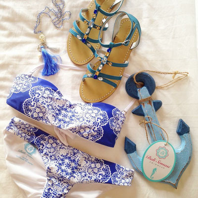 Bali Sensasi Bandeau Bikini blau Gr S/M/L 79€