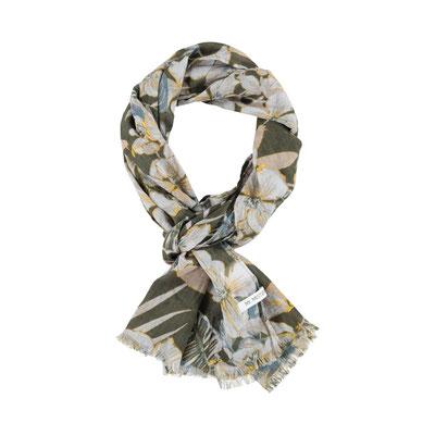 """Schal """"Hawai"""", olive, 100% Cotton, 50x180cm, 19,95€"""
