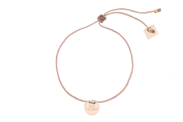 "Armband ""Friends"" rosegold, 22€"