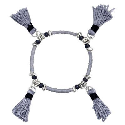 "Armband ""Tassel for 4"" grey 16€"