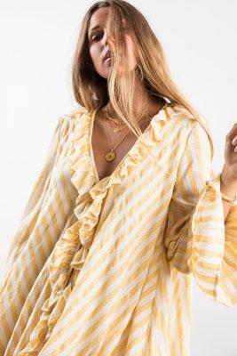 Dress Jasper, portofino yellow, 60% Baumwolle, 30% Viskose, 10% Lurex, in Gr XS/S und M/L,  149€