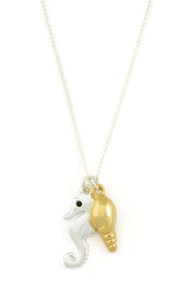"Kette ""Seahorse&Seashell"", gold/silber, 26€"