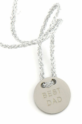 """Armband """"Best Dad"""", silver 22€"""