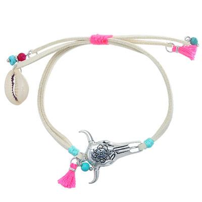 """Armband """"Buffalo"""" beige/pink 15€ on SALE 9€"""