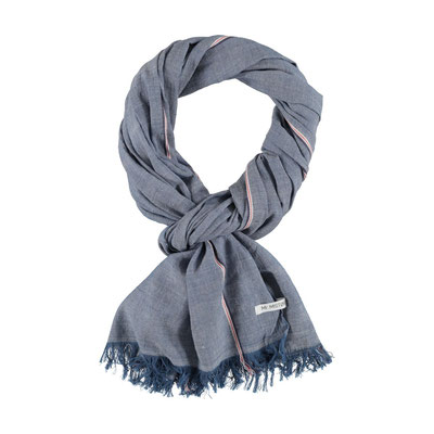 "Schal ""Only blue"", 50% Cotton, 50% Viskose, 70x180cm, 24,95€"