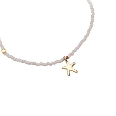 "Armband ""little Seastar"" light grey 12€"