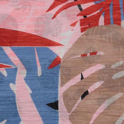 "Schal ""Estate"", pink/blue, 100% Cotton, 100x180cm,   19,95€"