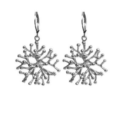"Ohrringe ""Schneekristall"" silver, 25€"
