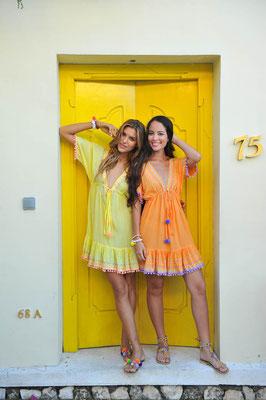 """Dress """"Nicole"""" erhältlich in lila in S/M, yellow in L, und türkis in S/M/L, 100% Viskose, handmade    139€"""