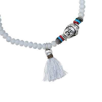 """Armband """"small Buddha"""" white 14€ on SALE 9€"""