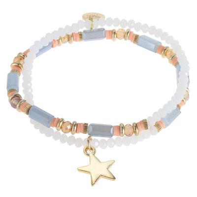 "Armband ""Starwrap"" white 19€"