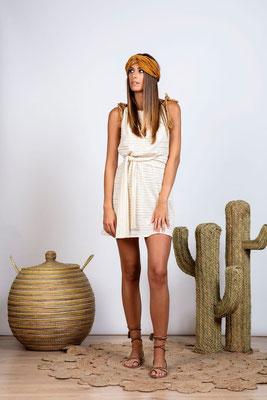 Dress Louise off white mit Bindegürtel in Size XS/S und M/L   119€ on SALE -30%