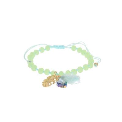 """Armband """"Dschungle Leaf"""" türkis, gold oder silber, 14€"""