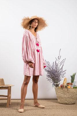 Dress Monroe, portofino pink, 60% Baumwolle 30% Viskose 10% Lurex, in Gr XS/S und M/L,  139€