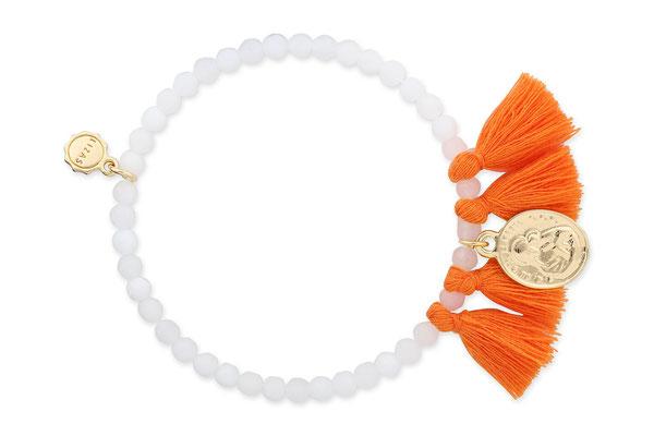 """Armband """"Madonna"""" white/orange, 16€"""