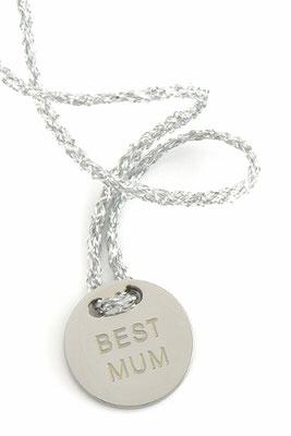 "Armband ""Best Mum"", silver 22€"