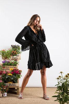 Dress Jasper, black, 100% Viskose, gefüttert, in Gr XS/S und M/L,  149€