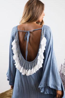Dress Indiana, powder blue, 100% Viskose gefüttert, in Gr XS/S und M/L,  139€