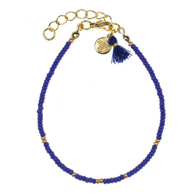 "Bracelet "" Little Wishes"" navy blue in silber od rosegold 12€"