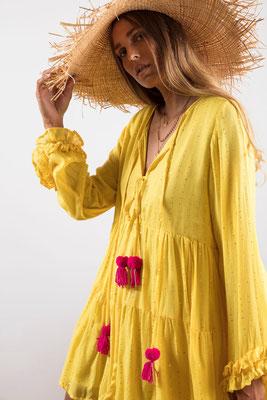 Dress Neo, yellow, 100% Viskose gefüttert, in Gr XS/S und M/L,  139€