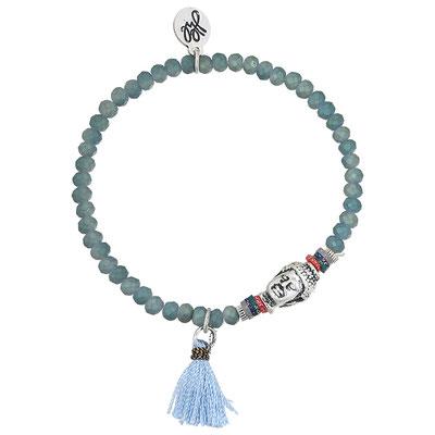 "Armband ""small Buddha"" blue 14€ on SALE 9€"