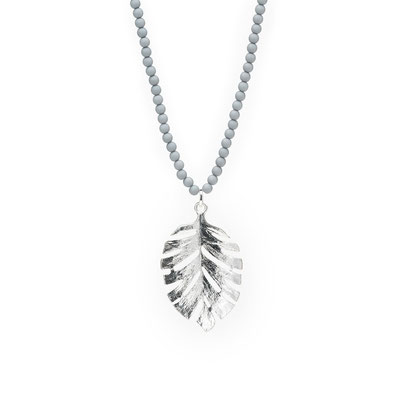 "Kette "" Jungle Queen"" grey/silver 28€"
