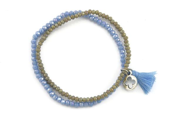 "Armband ""Doubletree"" grey/blue 16€"