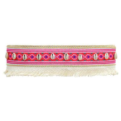 Gürtel Boho pink 39€