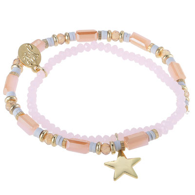 "Armband ""Starwrap"" soft pink 19€"