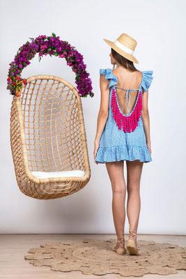 Dress Mimi Gingham Blue, in Size XS/S und M/L   139€ on SALE -40%