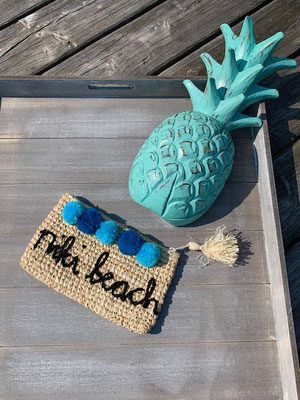 "Clutch ""niki beach"", blue mix, 34€"