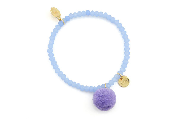 "Armband ""Single Pom Pom"", light lavender, 14€"