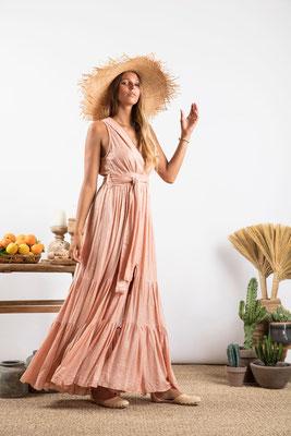 Dress Natalia poudre, 100% Viskose, gefüttert, in Gr XS/S und M/L  149€