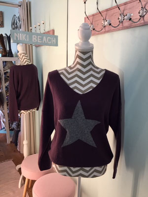"Pulli ""Star"", one size, lila 49,90€"