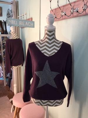 "Pulli ""Star"", one size, lila 49,90€"