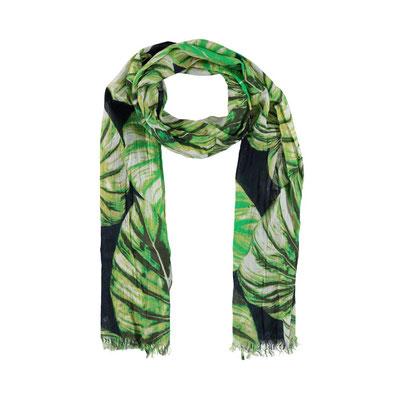 "Schal ""Leaves"", green, 100% Cotton, 50x 180cm, 18,95€"