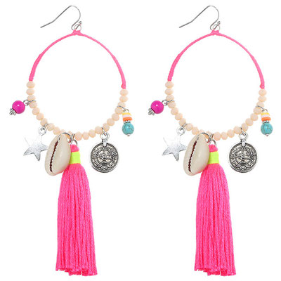 "Ohrringe "" Beachparty"" pink 22€ -50%"