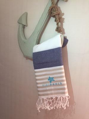 Hamamtuch bunt, navy blue/beige, 24,90€