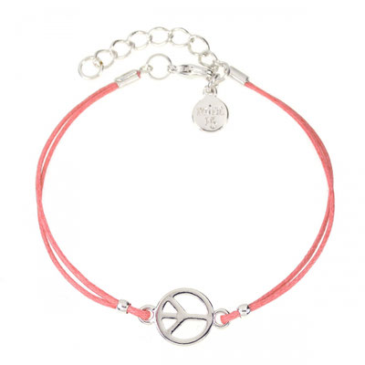 """Armband """"Peace"""" coral silber 14€"""