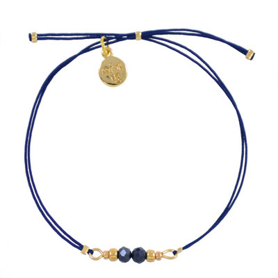 """Armband """"Dragonfly"""" blue, in rosegold und silber, 14€"""