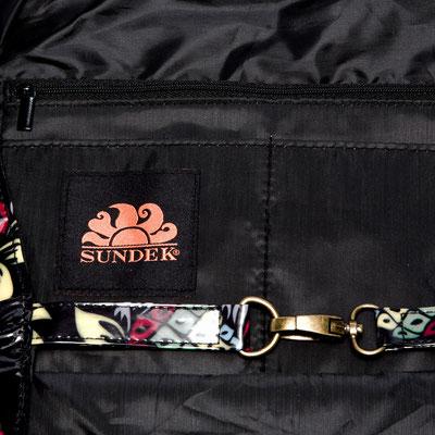 Sundek Badetasche Tiffany, black Pinapple, 63€