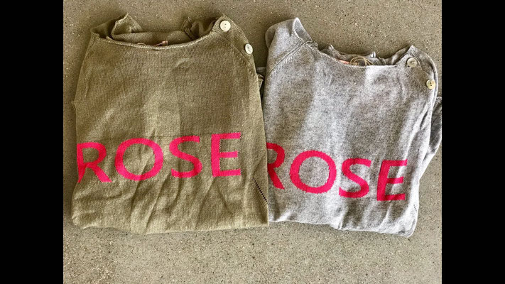 "Pullover ""Rose"", beige/pink and grey/pink, one size, Cotton/Acryl,  59,90€"