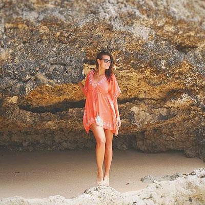 Dress Ethnique Square coral, 75€