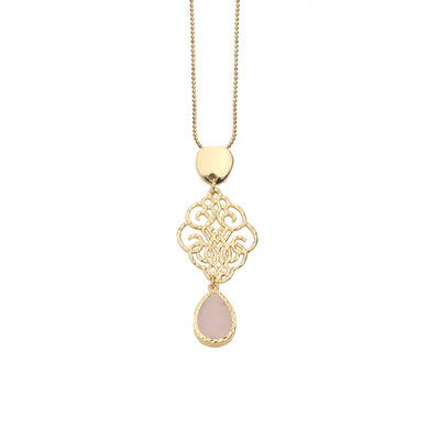 "Kette ""Tiny Arabesque"" gold/pink, 19€"