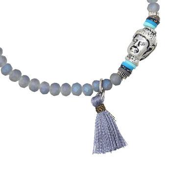 "Armband ""small Buddha"" grey 14€ on SALE 9€"