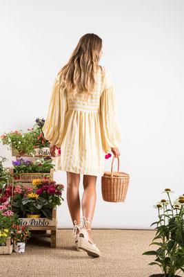 Dress Monroe, portofino yellow, 60% Baumwolle 30% Viskose 10% Lurex, in Gr XS/S und M/L,  139€